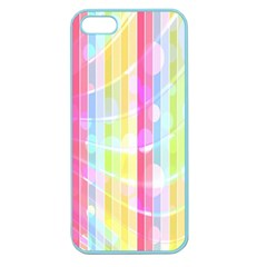 Colorful Abstract Stripes Circles And Waves Wallpaper Background Apple Seamless Iphone 5 Case (color)