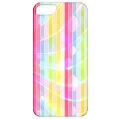 Colorful Abstract Stripes Circles And Waves Wallpaper Background Apple iPhone 5 Classic Hardshell Case