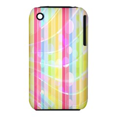 Colorful Abstract Stripes Circles And Waves Wallpaper Background iPhone 3S/3GS