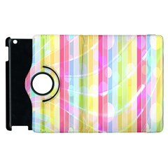 Colorful Abstract Stripes Circles And Waves Wallpaper Background Apple iPad 2 Flip 360 Case