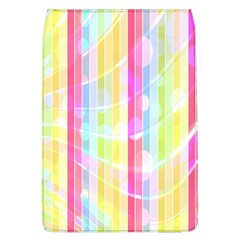 Colorful Abstract Stripes Circles And Waves Wallpaper Background Flap Covers (L)