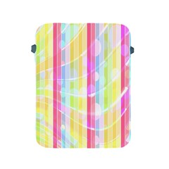 Colorful Abstract Stripes Circles And Waves Wallpaper Background Apple iPad 2/3/4 Protective Soft Cases