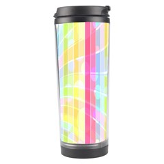 Colorful Abstract Stripes Circles And Waves Wallpaper Background Travel Tumbler