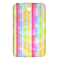 Colorful Abstract Stripes Circles And Waves Wallpaper Background Samsung Galaxy Tab 3 (7 ) P3200 Hardshell Case