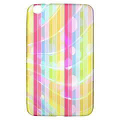 Colorful Abstract Stripes Circles And Waves Wallpaper Background Samsung Galaxy Tab 3 (8 ) T3100 Hardshell Case