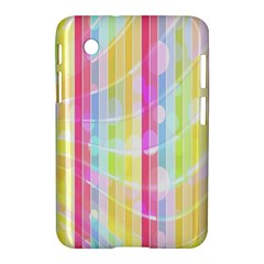 Colorful Abstract Stripes Circles And Waves Wallpaper Background Samsung Galaxy Tab 2 (7 ) P3100 Hardshell Case