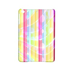 Colorful Abstract Stripes Circles And Waves Wallpaper Background iPad Mini 2 Hardshell Cases