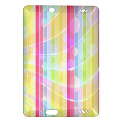 Colorful Abstract Stripes Circles And Waves Wallpaper Background Amazon Kindle Fire HD (2013) Hardshell Case