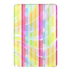 Colorful Abstract Stripes Circles And Waves Wallpaper Background Samsung Galaxy Tab Pro 10.1 Hardshell Case