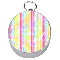 Colorful Abstract Stripes Circles And Waves Wallpaper Background Silver Compasses