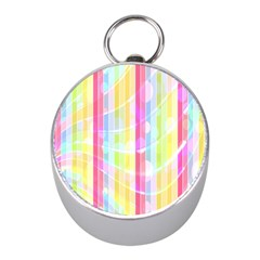 Colorful Abstract Stripes Circles And Waves Wallpaper Background Mini Silver Compasses