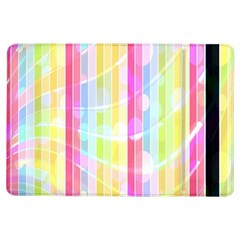Colorful Abstract Stripes Circles And Waves Wallpaper Background iPad Air Flip