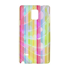 Colorful Abstract Stripes Circles And Waves Wallpaper Background Samsung Galaxy Note 4 Hardshell Case