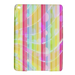 Colorful Abstract Stripes Circles And Waves Wallpaper Background iPad Air 2 Hardshell Cases