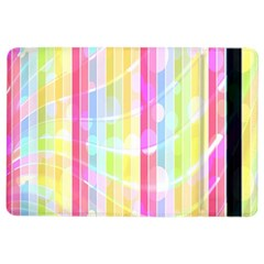 Colorful Abstract Stripes Circles And Waves Wallpaper Background iPad Air 2 Flip