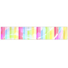 Colorful Abstract Stripes Circles And Waves Wallpaper Background Flano Scarf (large)