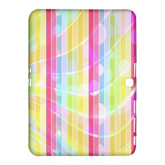 Colorful Abstract Stripes Circles And Waves Wallpaper Background Samsung Galaxy Tab 4 (10.1 ) Hardshell Case