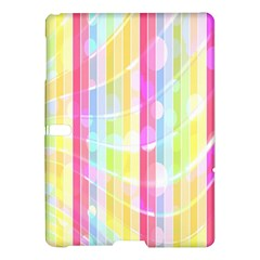 Colorful Abstract Stripes Circles And Waves Wallpaper Background Samsung Galaxy Tab S (10.5 ) Hardshell Case