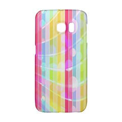 Colorful Abstract Stripes Circles And Waves Wallpaper Background Galaxy S6 Edge