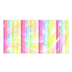 Colorful Abstract Stripes Circles And Waves Wallpaper Background Satin Shawl