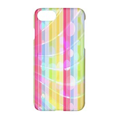 Colorful Abstract Stripes Circles And Waves Wallpaper Background Apple Iphone 7 Hardshell Case