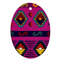 Abstract A Colorful Modern Illustration Ornament (Oval)