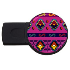Abstract A Colorful Modern Illustration USB Flash Drive Round (1 GB)
