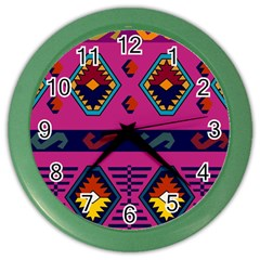 Abstract A Colorful Modern Illustration Color Wall Clocks
