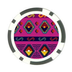 Abstract A Colorful Modern Illustration Poker Chip Card Guard
