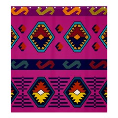 Abstract A Colorful Modern Illustration Shower Curtain 66  X 72  (large)