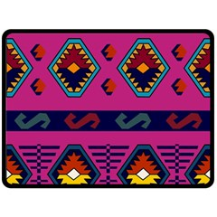 Abstract A Colorful Modern Illustration Fleece Blanket (large)