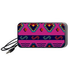 Abstract A Colorful Modern Illustration Portable Speaker (black)