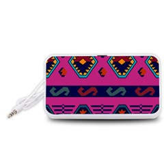 Abstract A Colorful Modern Illustration Portable Speaker (White)