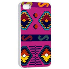 Abstract A Colorful Modern Illustration Apple iPhone 4/4s Seamless Case (White)