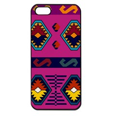 Abstract A Colorful Modern Illustration Apple iPhone 5 Seamless Case (Black)