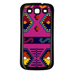 Abstract A Colorful Modern Illustration Samsung Galaxy S3 Back Case (black)