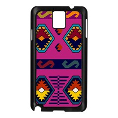 Abstract A Colorful Modern Illustration Samsung Galaxy Note 3 N9005 Case (Black)