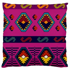 Abstract A Colorful Modern Illustration Large Flano Cushion Case (Two Sides)