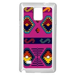 Abstract A Colorful Modern Illustration Samsung Galaxy Note 4 Case (White)