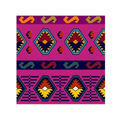 Abstract A Colorful Modern Illustration Small Satin Scarf (Square)