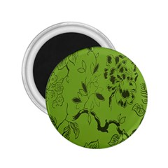 Abstract Green Background Natural Motive 2 25  Magnets