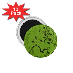 Abstract Green Background Natural Motive 1.75  Magnets (10 pack)