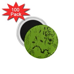 Abstract Green Background Natural Motive 1.75  Magnets (100 pack)