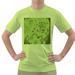 Abstract Green Background Natural Motive Green T Shirt