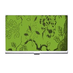 Abstract Green Background Natural Motive Business Card Holders