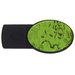 Abstract Green Background Natural Motive Usb Flash Drive Oval (2 Gb)