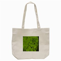 Abstract Green Background Natural Motive Tote Bag (Cream)
