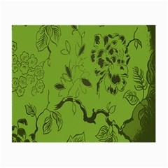 Abstract Green Background Natural Motive Small Glasses Cloth