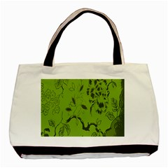 Abstract Green Background Natural Motive Basic Tote Bag