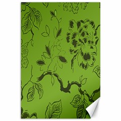 Abstract Green Background Natural Motive Canvas 12  X 18